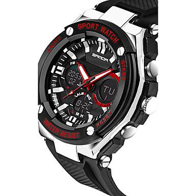 SANDA Herre Digital Japansk Quartz Armbåndsur Smartklokke Militærklokke Sportsklokke Kronograf Vannavvisende LED Selvlysende Stoppeklokke