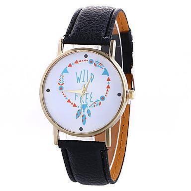 Dames Modieus horloge Kwarts Digitaal Maanfase PU Band Vintage Snoep Bedeltjes Vrijetijdsschoenen Cool Zwart WitRoos Bruin Rood Blauw