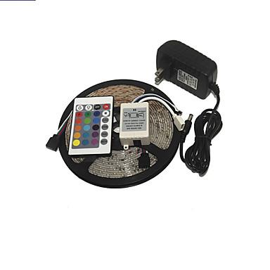 KWB 3528 LED RGB strip licht 300leds 24key ir afstandsbediening voeding perfect voor allerlei decoratie stijlen