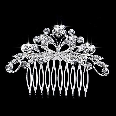 Pentes Acessórios de cabelo Cristal perucas Acessórios Mulheres 1pcs pçs 1-4 polegadas cm Festa Boutique Cristal