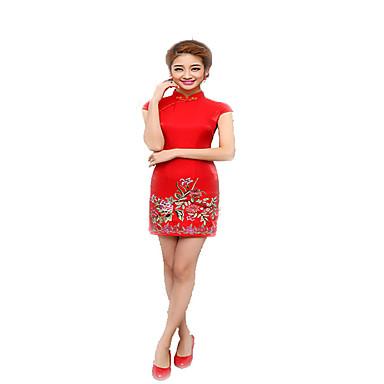 Tradisjonell Dame Kjoler A-Line Dress Blyantkjole Cosplay Kortermet Medium Lengde