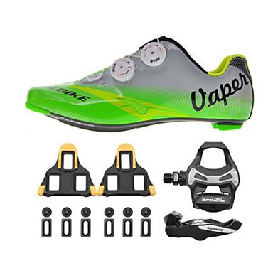 BOODUN® Sko til landevejscykling Cykelsko m. pedal og tåjern Voksne Dæmpning Vej Cykel udendørs PU Gummi Cykling / Cykel