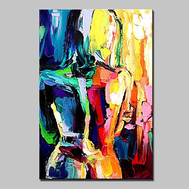 Handgemalte Abstrakt Menschen Vertikal, Modern Segeltuch Hang-Ölgemälde Haus Dekoration Ein Panel