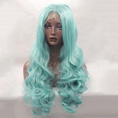 Syntetiske parykker Bølget Blonde Front Naturlig paryk Lang Syntetisk hår