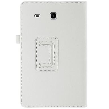 Hülle Für Samsung Galaxy Ganzkörper-Gehäuse / Tablet-Hüllen Solide Hart PU-Leder für Tab E 9.6