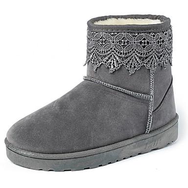 Støvler-PU-Komfort Snowboots-Dame-Sort Gul Rosa Lilla Grå-Fritid-Flad hæl