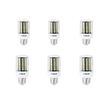 BRELONG® 6pcs 8W 800lm E14 E26 / E27 B22 LED Mais-Birnen B 136 LED-Perlen SMD 5733 Dekorativ Warmes Weiß Kühles Weiß 200-240V 220-240V