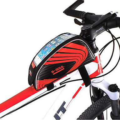 abordables Sacoches de Vélo-B-SOUL Sac de téléphone portable Sac Cadre Velo 5.7 pouce Ecran tactile Etanche Cyclisme pour iPhone 8 Plus / 7 Plus / 6S Plus / 6 Plus iPhone X Samsung Galaxy S8 / S7 / Note 7 Rouge Vert Bleu