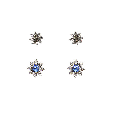 Dames Oorknopjes Modieus Vintage Bohemia Style Rock Kristal Strass Legering Stervorm Geometrische vorm Sieraden Voor Bruiloft Feest