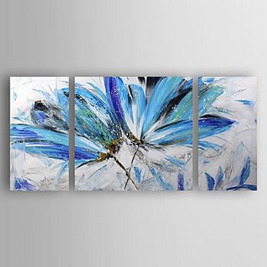 Hang malte oljemaleri Håndmalte - Blomstret / Botanisk Moderne Lerret