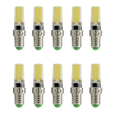 10pcs 3 W 200 lm E14 Focos LED T 1 Cuentas LED COB Decorativa Blanco Cálido / Blanco Fresco 220-240 V / 10 piezas / Cañas