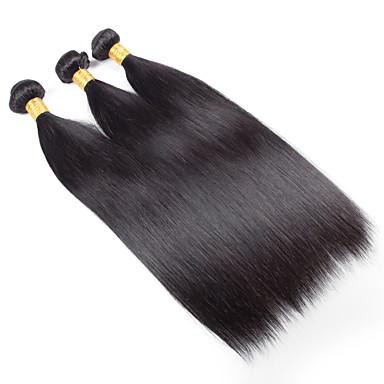 Human Hair vævninger Indisk hår Lige 18 Måneder 3 Dele hår vævninger