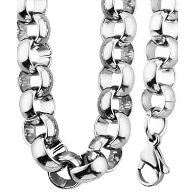 Homens Mulheres Conjunto de Jóias Colar / Pulseira Corrente Fashion Festa Diário Casual Aço Inoxidável Formato Circular Colares Bracelete