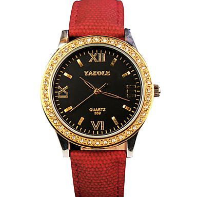 YAZOLE Damen Armbanduhr Modeuhr Armbanduhren für den Alltag Quartz / Schlussverkauf PU Band Freizeit Cool Schwarz Blau Silber Rot Gelb