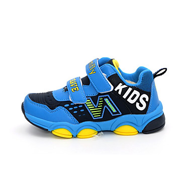 Sneakers-PU-Komfort-Drenge-Blå Grå-Fritid-Flad hæl