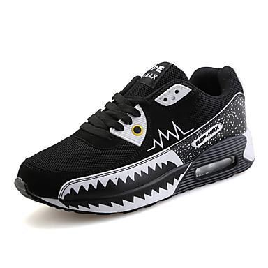 Sneakers-Tyl-Komfort-Unisex-Sort Blå Oliven-Udendørs Fritid Sport-Lav hæl