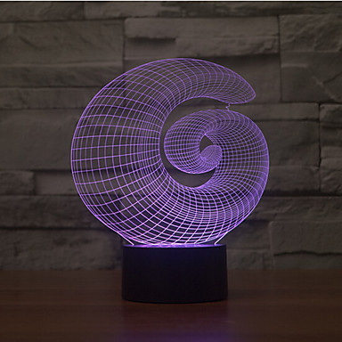 1 Stück 3D Nachtlicht Dekorativ LED