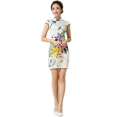 Traditionell Damen Kleid Pencil Kleid A-Linie Kleid Cosplay Blumen Kurzarm Mittlerer Länge Kostüme
