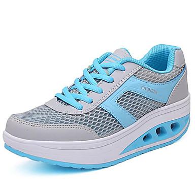 Sneakers-Kanvas-Komfort-Dame-Blå Rosa Rød-Udendørs Fritid-Flad hæl