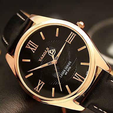 YAZOLE Herrn Armbanduhr Armbanduhren für den Alltag / Cool / / PU Band Freizeit / Modisch Schwarz / Braun / SSUO 377