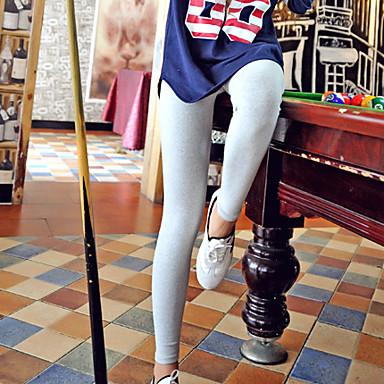 Feminino Fino Poliéster Cor Única Legging
