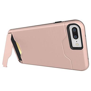 Para iPhone X iPhone 8 iPhone 7 iPhone 7 Plus iPhone 6 Case Tampa Porta-Cartão Antichoque Com Suporte Capa Traseira Capinha Armadura