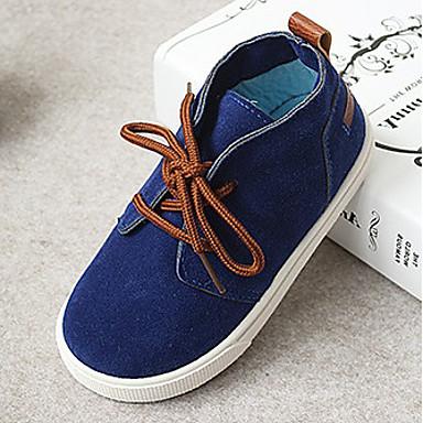 Unisexo Sapatos Couro Ecológico Primavera Outono Conforto Tênis Caminhada Sem Salto Cadarço para Casual Bege Vermelho Azul Azul Claro