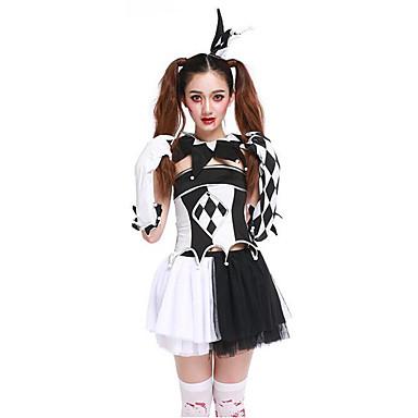 Cosplay Kostumer / Festkostume Oktoberfest / Vampyr / Karriere Kostumer Festival/Højtider Halloween Kostumer Sort FarveblokKjole /