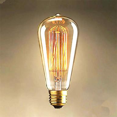 1pc 40W E26/E27 ST64 2300 K Glühbirne Vintage Edison Glühbirne AC85-265 Wechselstrom 220V V
