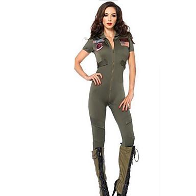 Soldat Cosplay Kostumer Festkostume Dame Jul Halloween Nytår Festival / Højtider Halloween Kostumer Farveblok Flåde Uniformer