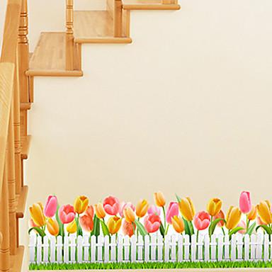 Bloemen Bomen / Bladeren Art Deco Huisdecoratie Hedendaagse Behangen , PVC/Vinyl Materiaal lijm nodig Grens , Kamer wandbekleding