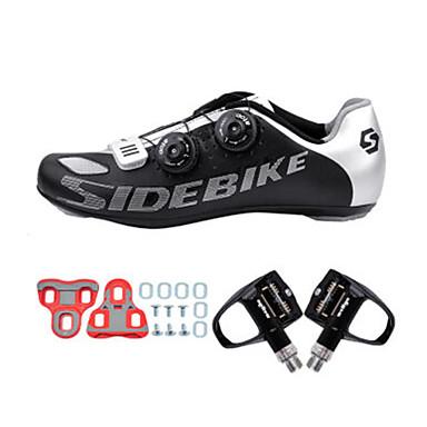SIDEBIKE Sapatilhas de Ciclismo com Travas & Pedal Tênis para Ciclismo Adulto Almofadado Bicicleta de Estrada Ao ar livre Malha