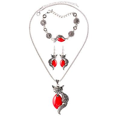 Feminino Colar / Pulseira Colar / Brincos Amuleto Boêmio Corrente Fashion Diário Casual Liga Brincos Colares Bracelete