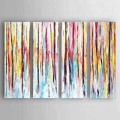 Hang-Painted Oliemaleri Hånd malede - Abstrakt Moderne Lærred / Stretched Canvas