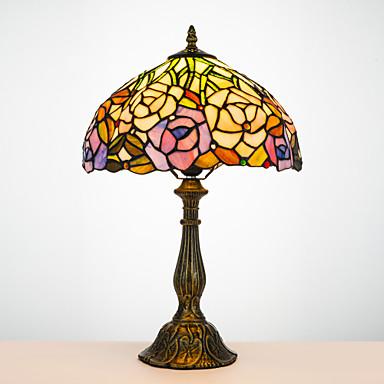 Tiffany Traditionel / Klassisk Bue Skrivebordslampe Til Harpiks 110-120V 220-240V