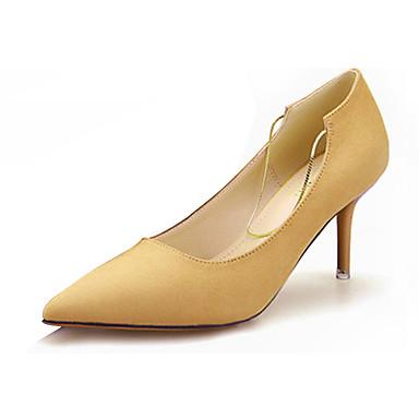 Dames Hoge hakken Comfortabel PU Herfst Causaal Comfortabel Stilettohak Zwart Grijs Geel Groen Roze 5 - 7 cm