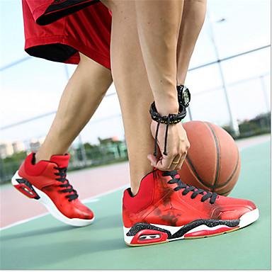 Heren Schoenen Kunstleer Lente Sportschoenen Basketbal Voor Sportief Zwart Rood Blauw