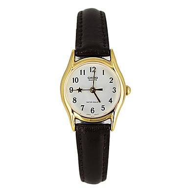 Mulheres Quartzo Relógio de Pulso / Venda imperdível Couro Banda Luxo Casual Fashion Preta