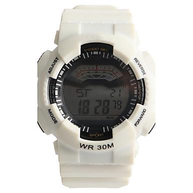 رخيصةأون ساعات رياضة-رجالي ساعة رياضية ساعة رقمية كوارتز رقمي الأبيض 30 m مقاوم للماء / مماثل كاجوال - أبيض سنة واحدة عمر البطارية / Tianqiu 377
