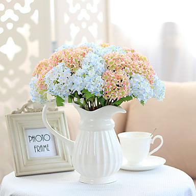 1 Tak Polyester Hortensia's Bloemen voor op tafel Kunstbloemen