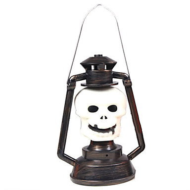 1pc halloween props fontes do partido luz fantasma esqueleto lâmpada de abóbora música