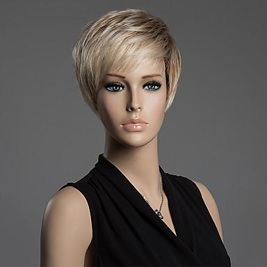 Perucas de cabelo capless do cabelo humano Marrom Alta qualidade Clássico Reto Diário