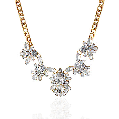 Feminino Colares com Pendentes Pingentes Strass imitação de diamante Liga Moda Personalizado Dourado Jóias Para Casamento Festa Diário