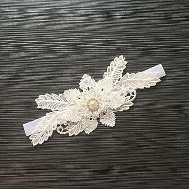 Stræksatin Mode Bryllup Garter - Bjergkrystal Blomst Strømpebånd