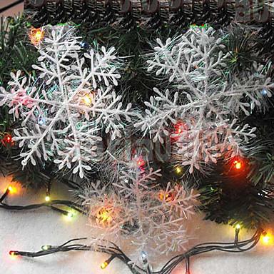 4pcs 10 centímetros cortinas natal desenho flocos de neve presente de Natal decoração da árvore de natal