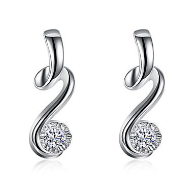 Dråbeøreringe Mode luksus smykker Personaliseret Sølvbelagt Simuleret diamant Smykker Smykker ForBryllup Fest Halloween Daglig Afslappet