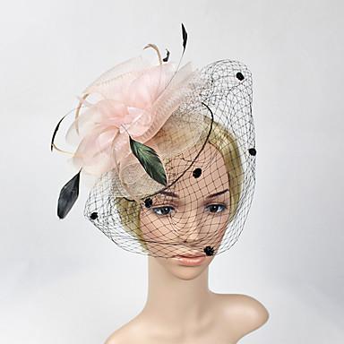 feather net fascinators headpiece elegant klassisk feminin stil