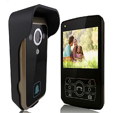 130 120 CMOS deurbelsysteem Draadloos Meergezins video deurbel