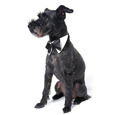 Hond Stropdas/Vlinderdas Hondenkleding Strik Wit Zwart Oranje Geel Groen Katoen Kostuum Voor huisdieren Heren Schattig Bruiloft