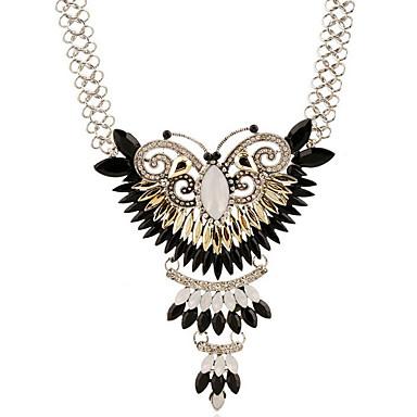 Dame Sommerfugl Sølv Sølvbelagt Simuleret diamant Halskædevedhæng  -  Personaliseret Luksus Mode Geometrisk form Dyr Sølv Halskæder Til